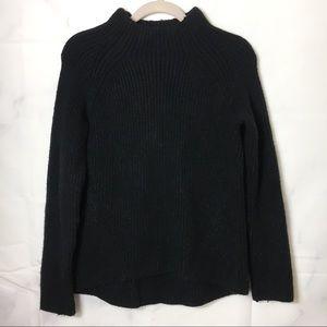 Madewell Sweaters - Madewell Black Ribbed Mock Neck Sweater